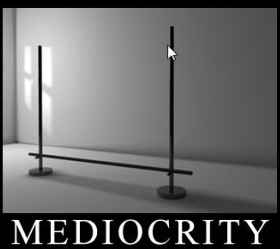 Fighting hard for mediocrity